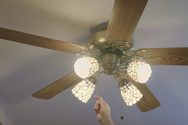 save energy by turning on your ceiling fan like this one in Aberdeen, NC